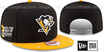 Penguins 'NHL STAR-TRIM SNAPBACK' Black-Gold Hat by New Era
