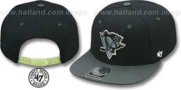 Penguins NIGHT-MOVE SNAPBACK Adjustable Hat by Twins 47 Brand