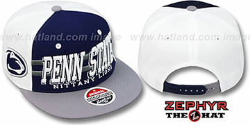Penn State '2T SUPERSONIC SNAPBACK' Navy-Grey Hat by Zephyr