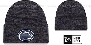 Penn State 'BEVEL' Navy-Grey Knit Beanie Hat by New Era