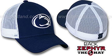 Penn State DHS-MESH Fitted Hat by Zephyr - navy-white