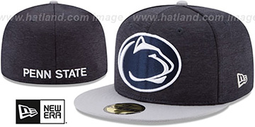Penn State 'HEATHER-HUGE' Navy-Grey Fitted Hat by New Era