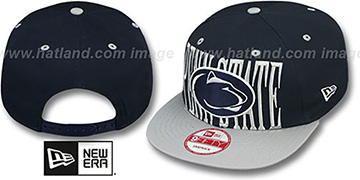 Penn State STEP-ABOVE SNAPBACK Navy-Grey Hat by New Era