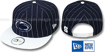 Penn State 'TEAM-BASIC PINSTRIPE SNAPBACK' Navy-White Hat by New Era