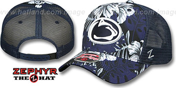 Penn State TROPICAL MESH SNAPBACK Navy Hat by Zephyr