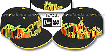 Philadelphia 'PHI BLOCK CITY-SKYLINE' Rasta Fitted Hat by New Era