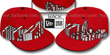 Philadelphia 'PHI BLOCK CITY-SKYLINE' Red Fitted Hat by New Era