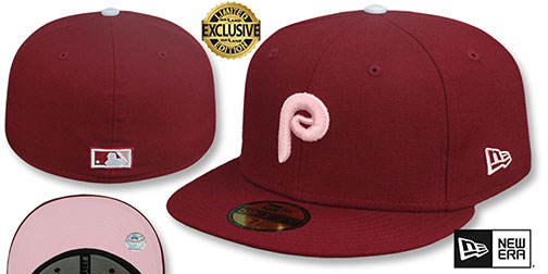 Phillies 1981 COOPERSTOWN PINK LOGO BOTTOM Fitted Hat by New Era