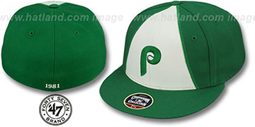 Phillies 1981 COOPERSTOWN ST PATS Fitted Hat by Twins 47 Brand