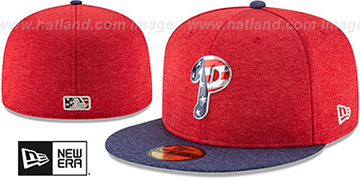 Phillies '2017 JULY 4TH STARS N STRIPES' Fitted Hat by New Era