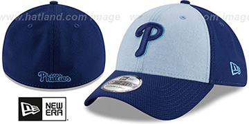 Phillies 2018 FATHERS DAY FLEX Sky-Royal Hat by New Era
