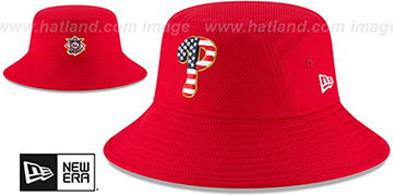 Phillies '2018 JULY 4TH STARS N STRIPES BUCKET' Red Hat by New Era