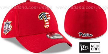 Phillies 2018 JULY 4TH STARS N STRIPES FLEX Red Hat by New Era