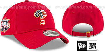 Phillies 2018 JULY 4TH STARS N STRIPES STRAPBACK Red Hat by New Era