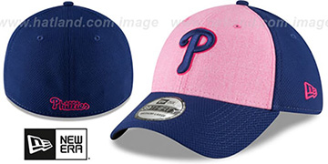 Phillies 2018 MOTHERS DAY FLEX Pink-Royal Hat by New Era
