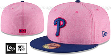 Phillies 2018 MOTHERS DAY Pink-Royal Fitted Hat by New Era