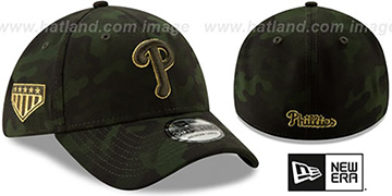 Phillies 2019 ARMED FORCES STARS N STRIPES FLEX Hat by New Era