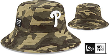 Phillies 2021 ARMED FORCES STARS N STRIPES BUCKET Hat by New Era