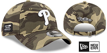 Phillies 2021 ARMED FORCES STARS N STRIPES STRAPBACK Hat by New Era