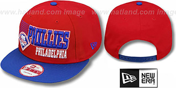 Phillies '2T BORDERLINE SNAPBACK' Red-Royal Hat by New Era