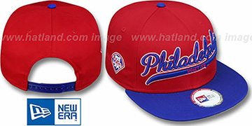 Phillies '2T SCRIPTER SNAPBACK' Red-Royal Hat by New Era