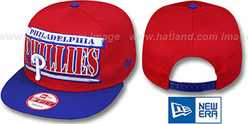 Phillies 2T STILL BREAKIN SNAPBACK Red-Royal Hat by New Era