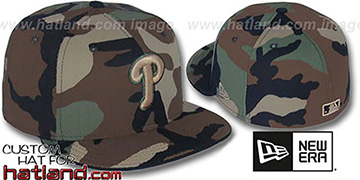 Phillies 'ARMY CAMO' Fitted Hat by New Era