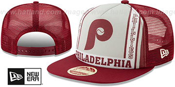 Phillies BANNER FOAM TRUCKER SNAPBACK Hat by New Era