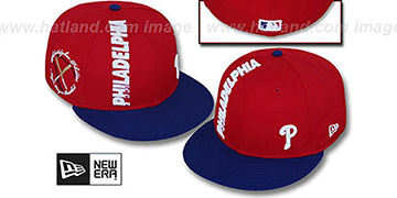Phillies BEELINE Red-Royal Fitted Hat by New Era