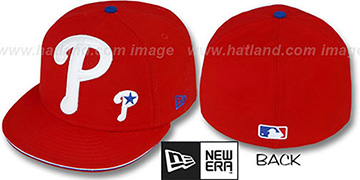 Phillies BIG-ONE LITTLE-ONE Red Fitted Hat by New Era