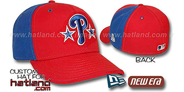 Phillies 'BP-PINWHEEL' Red-Royal Fitted Hat by New Era