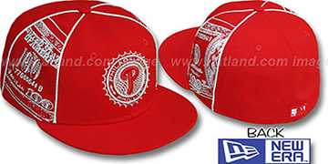 Phillies C-NOTE Red-Silver Fitted Hat by New Era
