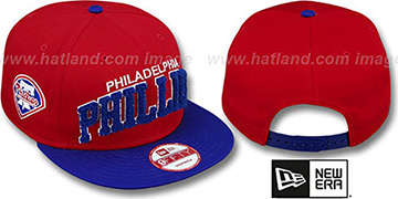 Phillies CHENILLE-ARCH SNAPBACK Red-Royal Hat by New Era