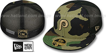 Phillies COOP 'ARMY CAMO MESH-BACK' Fitted Hat by New Era