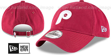 Phillies COOP CORE-CLASSIC STRAPBACK Burgundy Hat by New Era