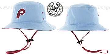 Phillies 'COOP KIRBY BUCKET' Sky Hat by Twins 47 Brand