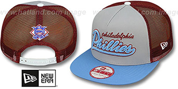 Phillies COOP MARK-MESH A-FRAME SNAPBACK Hat by New Era