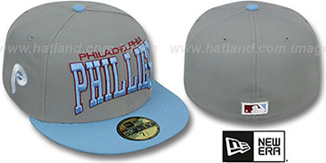 Phillies COOP PRO-ARCH Grey-Sky Fitted Hat by New Era