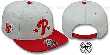 Phillies COOP SATCHEL SNAPBACK Adjustable Hat by Twins 47 Brand