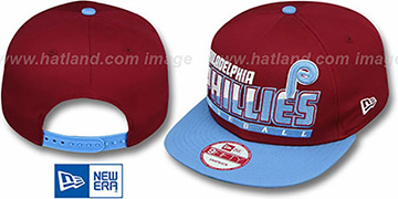 Phillies COOP SLICE-N-DICE SNAPBACK Burgundy-Sky Hat by New Era