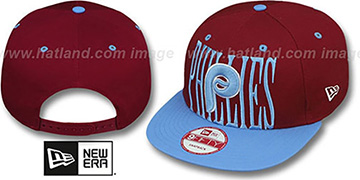 Phillies COOP STEP-ABOVE SNAPBACK Burgundy-Sky Hat by New Era