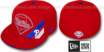 Phillies 'CORNER SLICE' Red Fitted Hat by New Era