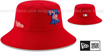 Phillies DASHMARK BP BUCKET Hat by New Era