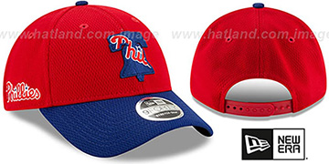 Phillies DASHMARK BP SNAPBACK Red-Royal Hat by New Era