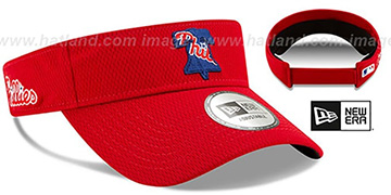 Phillies DASHMARK BP VISOR Red by New Era
