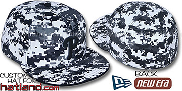 Phillies 'DIGITAL URBAN CAMO' Fitted Hat by New Era