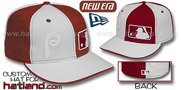Phillies DOUBLE WHAMMY White-Maroon Fitted Hat