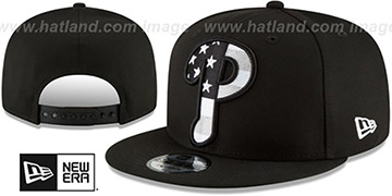 Phillies 'FLAG FILL INSIDER SNAPBACK' Black Hat by New Era