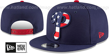 Phillies 'FLAG FILL INSIDER SNAPBACK' Navy Hat by New Era