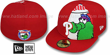 Phillies FUNKY MASCOT Red Fitted Hat by New Era